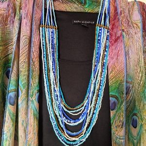 Jewelry - 🌹3for$20 Multi Strand Beaded Necklace in Blues